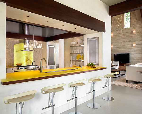 kitchen bars nice knives 12 unforgettable bar designs colorful yellow