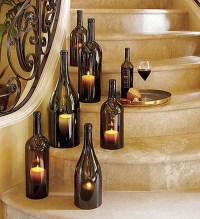 DIY Wine Bottle candle holder