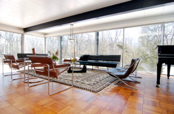 wassily chair brown leather stability ball chairs 22 inspirational interiors featuring the by marcel breuer view in gallery open living space design with cool incorporation of