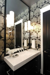 art deco wallpaper for the bathroom - Decoist