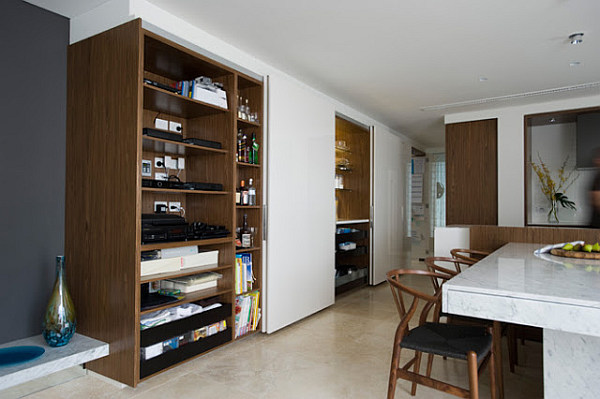 Small Space Solutions Hidden Kitchen From Minosa Design