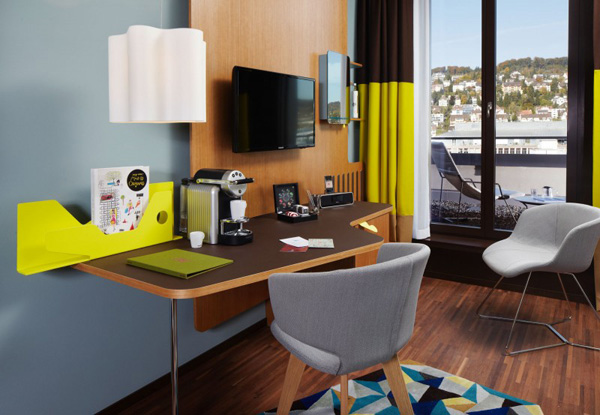 25 Hours Hotel in Zurich Charms With Bright and Brilliant