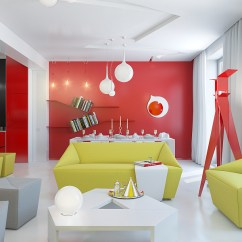 Green And Red Living Room Brown Leather Couch Decorating Ideas How To Decorate Your Home With Color Pairs View In Gallery Modern Walls Couches
