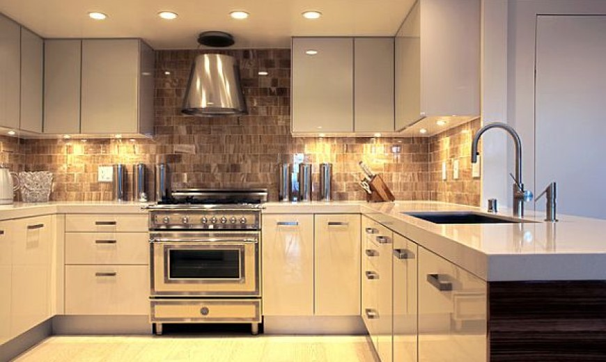 under cabinet lighting adds style and