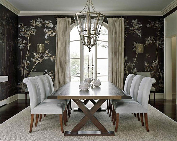 Bamboo dining room wallpaper  Decoist