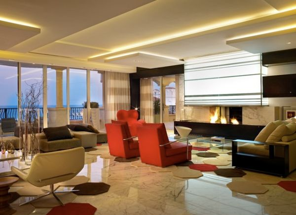 ceiling designs for living room formal furniture layout 33 stunning design ideas to spice up your home view in gallery sizzling is illuminated warm hues