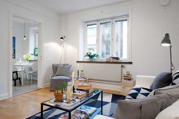 Tiny Swedish Apartment Showcases How to Decorate Small Living Spaces with Style