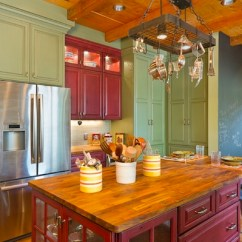 Colorful Kitchen Cabinets Corner Nook Table Creative Ways To Use Color In Your Dull View Gallery