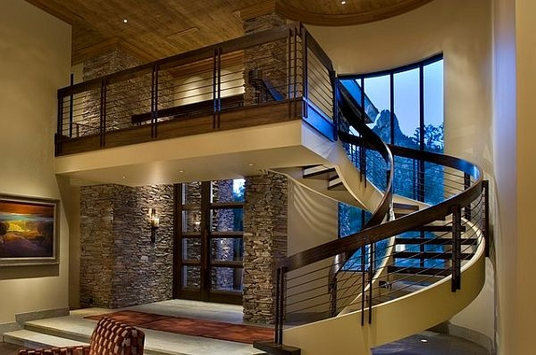 Choosing The Perfect Stair Railing Design Style | Duplex Staircase Railing Designs | Indoor | Wooden | Grill | Two Story House Stair | Floor To Ceiling