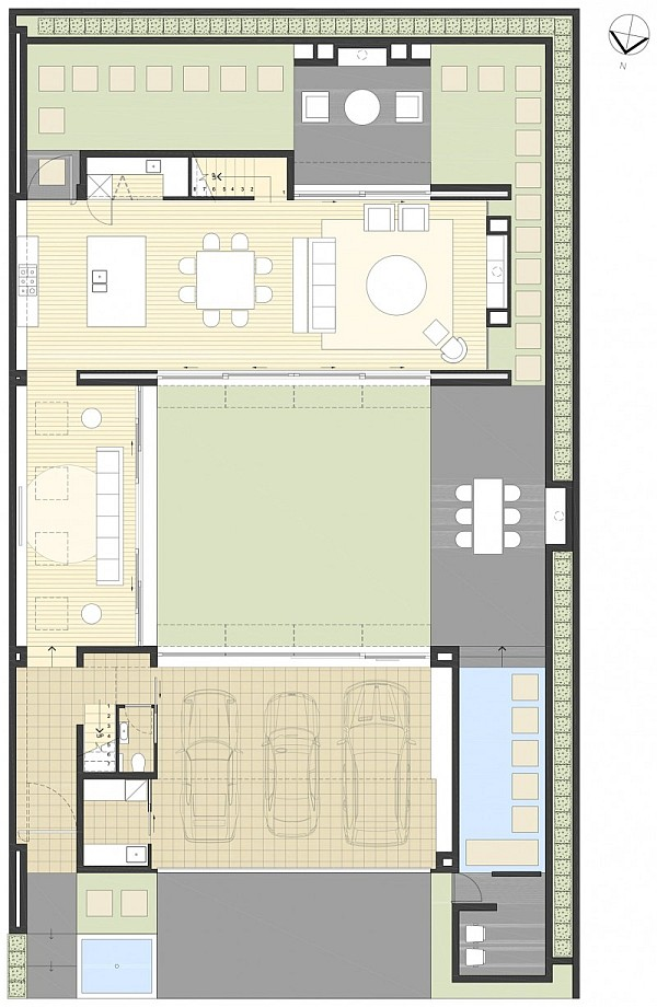Open Space Living Room Design Casa Valna Contemporary House
