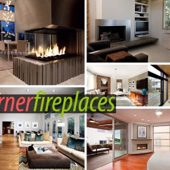 Decorating A Small Living Room With Corner Fireplace Tv Wall Sleek Fireplaces Modern Flair