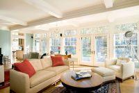 wall of windows living room - Decoist