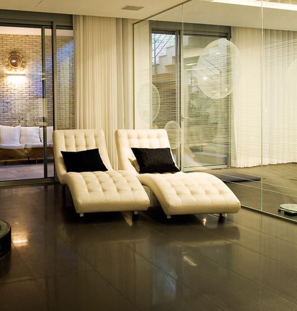 living room chaise lounge chair white ceremony chairs inspiration hollywood 34 stylish interiors sporting the timeless view in gallery exquisite modern lounges cream for semi minimalist home