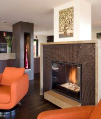 34 Modern Fireplace Designs With Glass For The ...