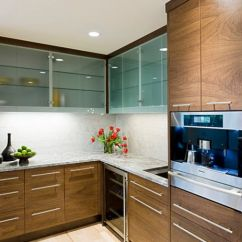 Kitchen Glass Cabinets Counter Resurfacing 28 Cabinet Ideas With Doors For A Sparkling Modern Home View In Gallery Frosted Leave Bit Mystery Thanks To The Translucent Look