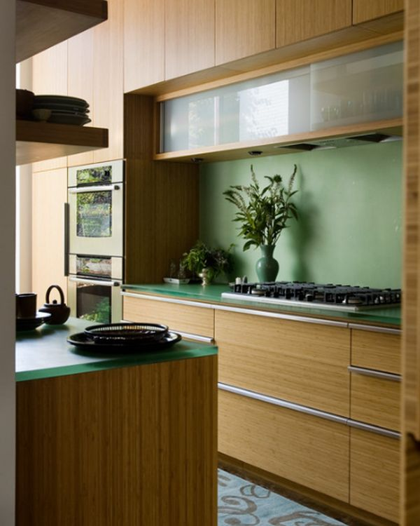 kitchen glass cabinets coastal decor 28 cabinet ideas with doors for a sparkling modern home view in gallery set largely bamboo dominated