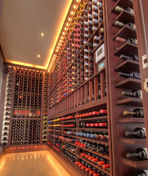 track lighting kitchen wood floors intoxicating design: 29 wine cellar and storage ideas for ...