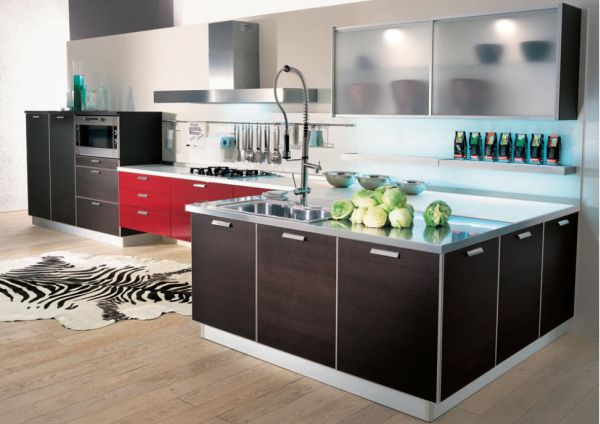 Contemporary Kitchen Cabinet Door Colors