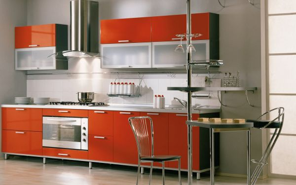 kitchen glass cabinets marble top cart 28 cabinet ideas with doors for a sparkling modern home view in gallery orange stylish