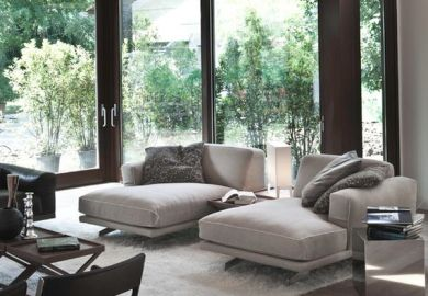 Double Chaise Lounge Living Room