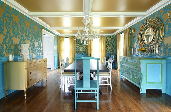 living room ideas with turquoise walls color decorating shades of blue for a powerful interior