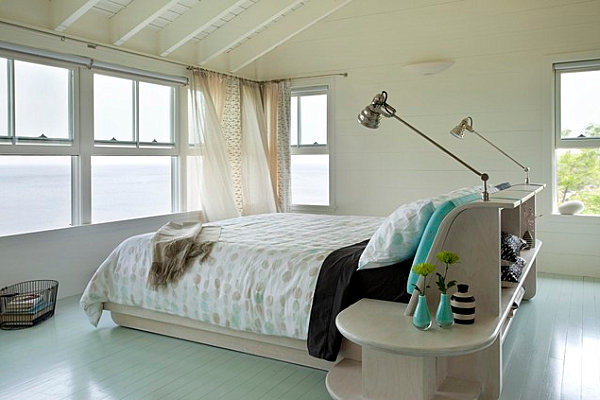 white floors in bedroom 20 Painted Floors with Modern Style