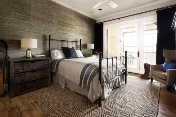 modern rustic bedroom Rustic Texas Home With Modern Design and Luxury Accents