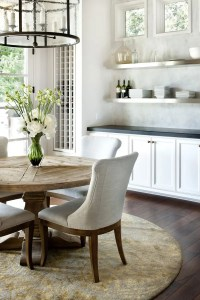 rustic modern kitchen table with comfy chairs