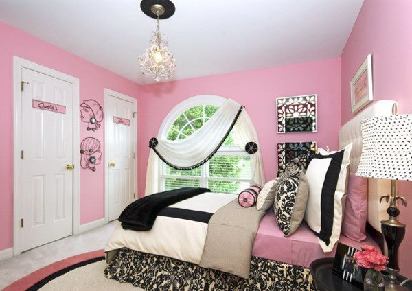 Black White And Pink Combine To Create A Stylish Modern S Bedroom