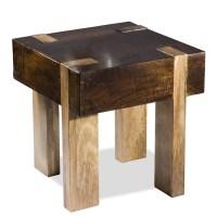 Chunky Wood End Table - Decoist
