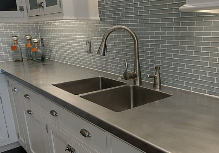 Gray Faux Kitchen Cabinets