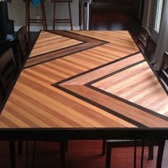 Diy Kitchen Tables Outdoor Appliances Packages 11 Dining To Dine In Style View Gallery Patterned Plywood Table
