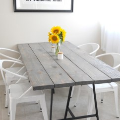Diy Kitchen Tables Portable Islands For The 11 Dining To Dine In Style View Gallery Wood Table