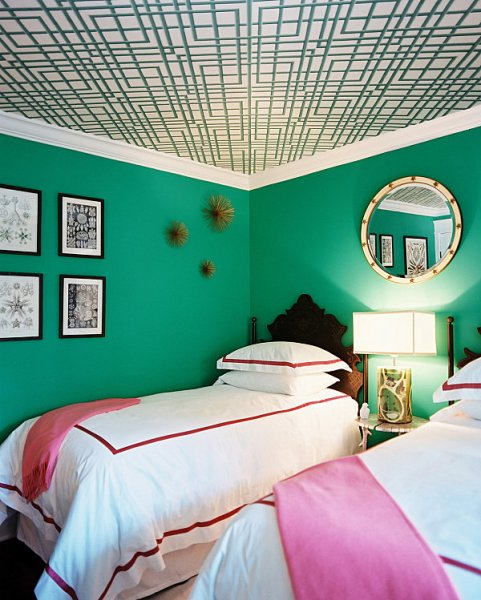 emerald green bedroom paint colors Decadent Jewel-Toned Bedrooms for a Glamorous Interior