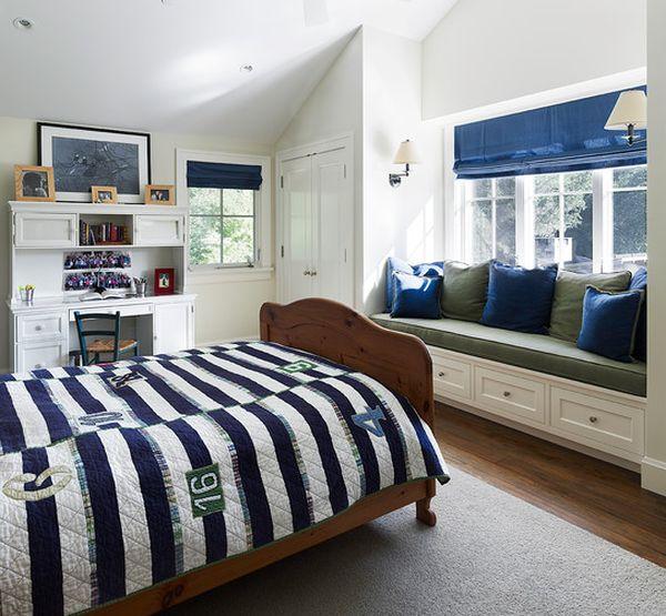 contemporary boys bedroom ideas in blue