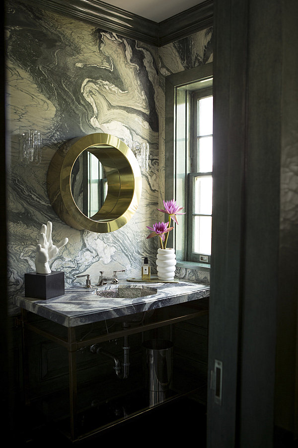 Masculine and Feminine Bathrooms His and Hers Powder
