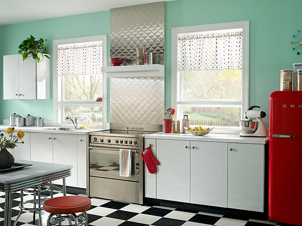 1950s kitchen table butcher block island the shiny kitchen: metal decor for your culinary space