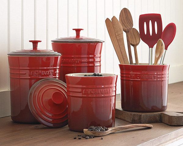 red canister set for kitchen aid tv offer stylish food storage containers the modern