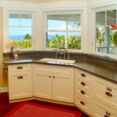 Kitchen Corner Sinks Work Station Design Inspirations That Showcase A Different View In Gallery With Like This Working At The Sink Can Never Be