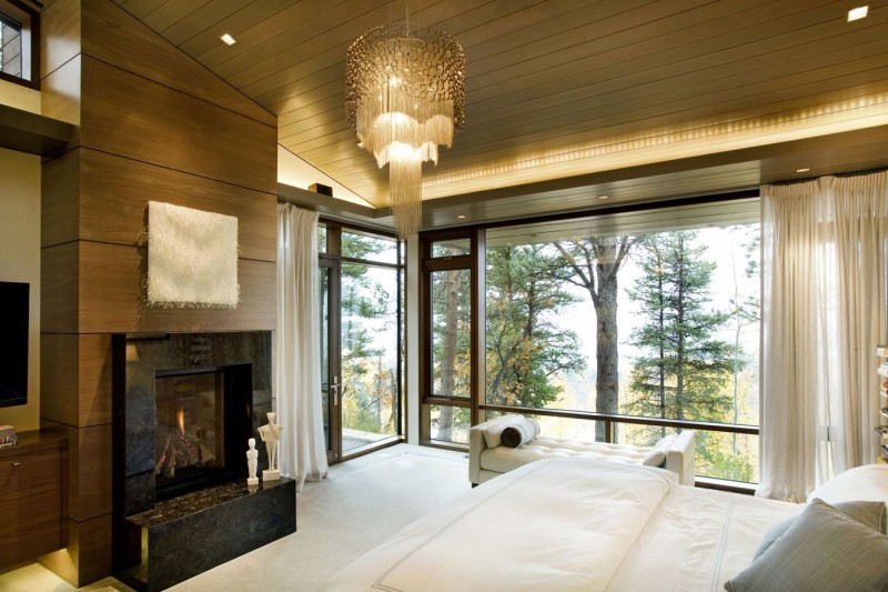 Inside Fireplace Decor Wrights Road: Warm And Contemporary Residence Amidst Snow