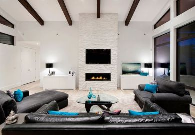 Black And White With Color Accents Black White Room Decor