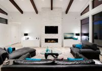 Living Room Decorated In Aquamarine And Chocolate - Native ...