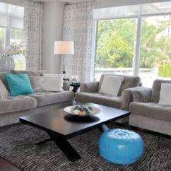 Gray And Turquoise Living Room Pictures Of Pottery Barn Rooms Decorating With Colors Nature Aqua Exoticness View In Gallery Moroccan Pouf Accents Shine A