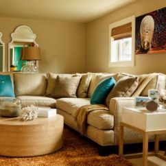 Turquoise And Brown Living Room Decorating Ideas Teal Lime Green Decor With Colors Of Nature Aqua Exoticness Ocean Blue Pillows Provide Cool Seaside Charm In A Neutral Earthen Tones