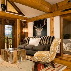 Country Style Home Decor Living Room White Leather Set With Contemporary Flair View In Gallery Rustic Walls Weathered Furnishings And