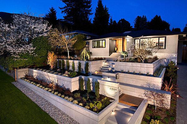 bepflanzung terrasse hanggarten hang gestalten hanglage treppen, Garten und erstellen