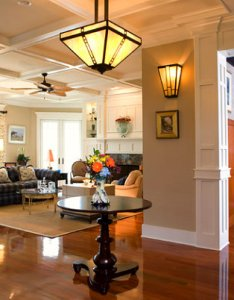 Warm lighting in  craftsman style entryway and family room also decor ideas for homes rh decoist