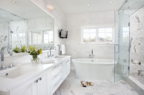 Navy Blue And Grey Bathroom Decor