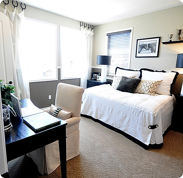 queen sleeper sofa rooms to go black leather chesterfield style guest room decorating ideas for a dual-purpose space