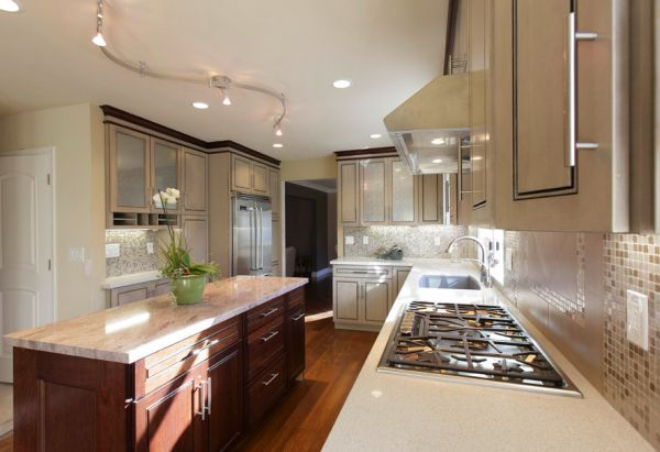 recessed kitchen lighting sink single bowl understated radiance dazzling for warm and view in gallery rail combined with lights this modern